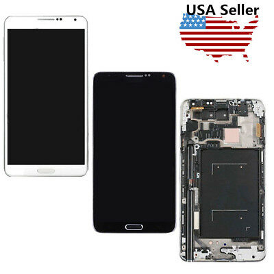 For Samsung Galaxy Note3 N900A N900T Touch Screen Digitizer LCD Display Frame