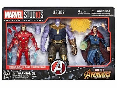 PRE ORDER Marvel Legends Universe 10th Anniversary Avengers Infinity War 3 Pack