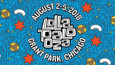 Two 2 LOLLAPALOOZA 2018 4 Day Pass GA Wristbands  Tickets  Chicago