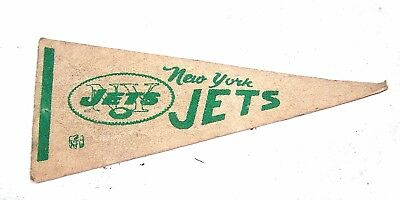 Vintage New York Jets Football Mini Pennant VGX Ticket Mets Giant Yankees Knicks