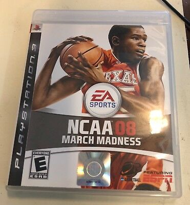 NCAA March Madness 08 PS3 complete w case cover art manual Kevin Durant