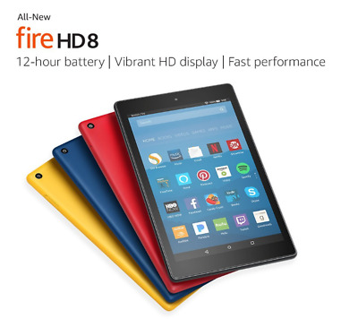 BRAND NEW Amazon  Fire HD 8 Tablet 16 GB wAlexa 7th Gen 2017 with offer