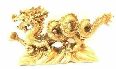 NEW REDGOLD Chinese Feng Shui Dragon Figurine Statue for Luck - Success 6 LONG