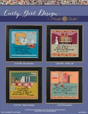 Curly Girl Designs by Mill Hill - 4 Witty and Whimsical Designs to Choose From