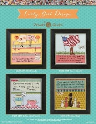 Curly Girl Designs by Mill Hill - 4 Witty Designs to Choose From