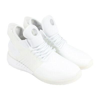Supra Skytop V Mens White Leather Athletic Lace Up Training Shoes