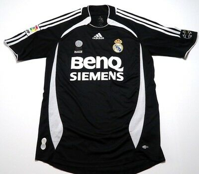 Vintage Real Madrid ADIDAS Away BenQ Siemens Soccer Jersey 2006-07 Size Small S