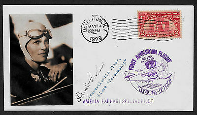 Amelia Earhart collector envelope w original period stamp 80 years old A577