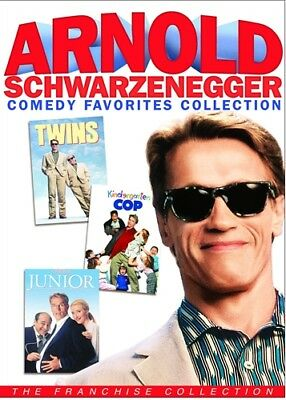 ARNOLD SCHWARZENEGGER 3 COMEDY FAVORITES New DVD Twins Kindergarten Cop Junior