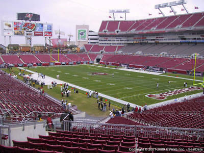1-6 TAMPA BAY BUCCANEERS vs PITTSBURGH STEELERS  SECT 244 ROW M