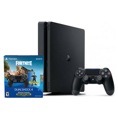 PlayStation 4 Slim 1TB - Extra PS4 Wireless Controller - Fortnite Content Bundle