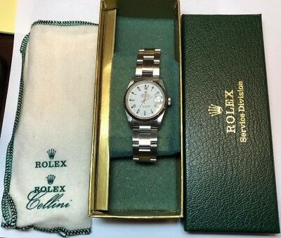 Midsize Rolex Datejust 31mm 68240 Stainless Steel Day Quickset SERVICED  DC29