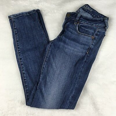 American Eagle Outfitters Light Wash Skinny Stretch Jeans 2 Regular Womens