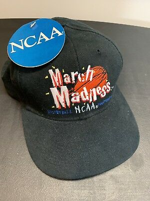 NEW March Madness 90s NCAA Basketball Tournament Vintage Sports Snapback Hat NWT