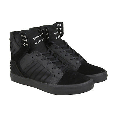 Supra Skytop Evo Mens Black Leather - Suede High Top Sneakers Shoes