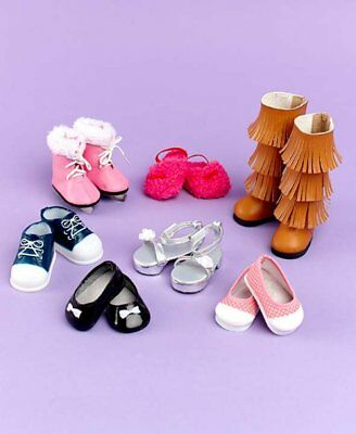 Set of 7 Pairs of Shoes for 18 Doll fit American Girl NEW