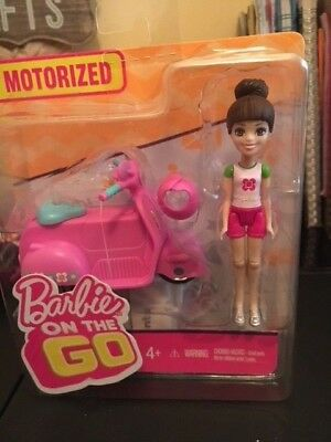 Barbie On The Go Pink Car and Doll Motorized - Blonde - New in Package - NIP