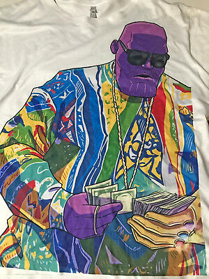 Thanos Biggie Smalls Notorious B-I-G- American Apparel T-Shirt in White XL NWOT