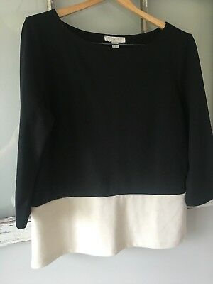 Forever 21 Essentials 34 Black White Size L Career Blouse