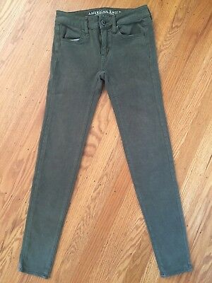 American Eagle Outfitters Size 00 Super Stretch Jegging Green