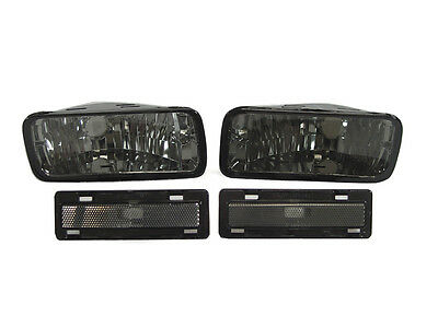 Smoke Bumper Signal - Side Marker Lights Lamps For 85-92 Chevrolet Chevy Camaro