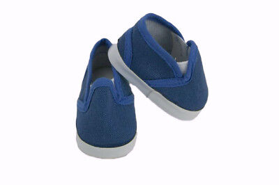 Blue Canvas Slip On Shoes Fits Wellie Wishers 14-5 American Girl Clothes