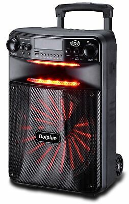 Dolphin 2500W Rechargeable 12 Portable Bluetooth Speaker with LEDs SP-1200RBT
