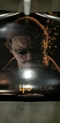 Official HALLOWEEN 40 YEARS OF TERROR CONVENTION POSTER MICHAEL MYERS mask blu