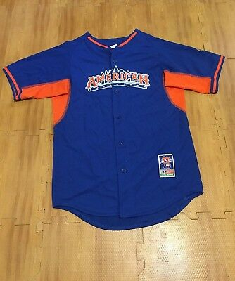 2013 All Star Game American League MLB Baseball Youth XL Blue Majestic Jersey