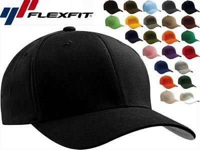 Original Flexfit Fitted Baseball Cap Blank Flex Fit Hat 6277 Wooly Combed Twill