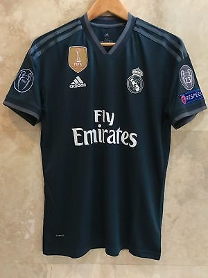 Real Madrid 2018-2019 Champions League away black Climalite Jersey size L