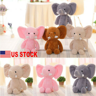 US Baby Kids Cute Animal Soft Plush Toy Mini Elephant Stuffed Animals Doll Gift