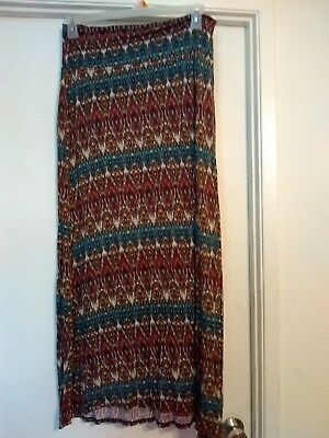 WET SEAL BRAND MAXI SKIRT MULTI COLORS SIZE XL