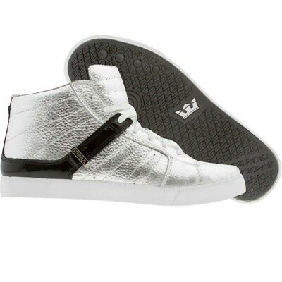 180-00 180 New Men Supra Indy NS silver Skateboard Fashion Sneaker 23004