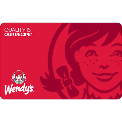 55 Wendys Physical Gift Card For Only 50 - FREE 1st Class Mail Delivery