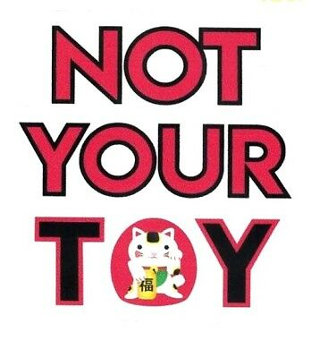 NOT YOUR TOY STICKER  Eurovision 2018 Netta Barzilai Israel Cat Vinyl 3  NEW