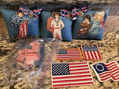 Lot Of 4th Of July Patriotic Flag USA Decorations