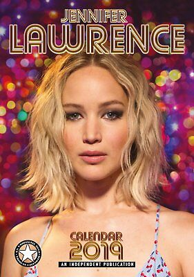 JENNIFER LAWRENCE - 2019 WALL CALENDAR - BRAND NEW - CELEBRITY 407274