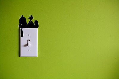 Light Switch SNOOPY Woodstock Decal  3 Peanuts Kids Room Wall Graphics Sticker