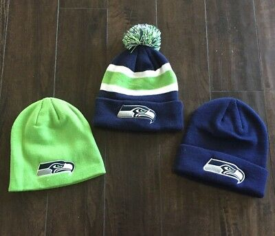 NEW 1 - NFL Apparel SEATTLE SEAHAWKS Knit Hats Beanie  - Choose from 3 styles