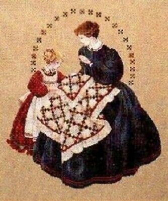 Lavender - Lace - LL27 - The Quiltmaker Counted Cross Stitch Pattern
