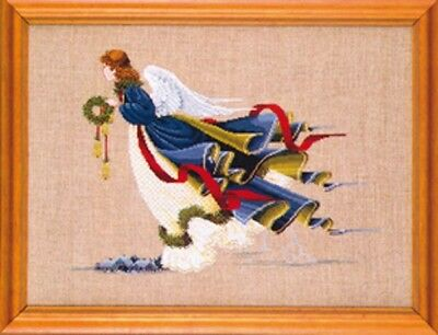 Lavender - Lace - LL10 Angel of Freedom Counted Cross Stitch Pattern