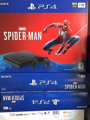 Sony PS4 PlayStation 4 1TB Marvels Spider-Man Video Game Console Bundle - Black