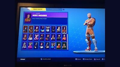 Rare Fortnite account RAFFLE Merry Maurader candy axe and more