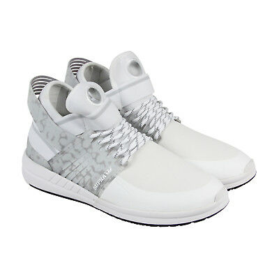 Supra Skytop V Mens White Textile Low Top Lace Up Sneakers Shoes