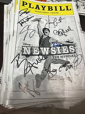 SIGNED NEWSIES PLAYBILL