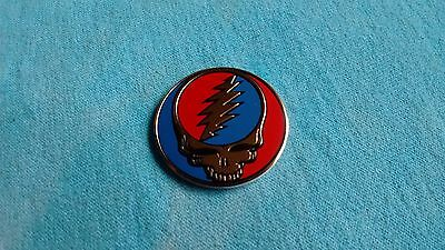 Grateful Dead Steal Your Face SYF 1-25 Inch Gold Metal Metallic Sticker