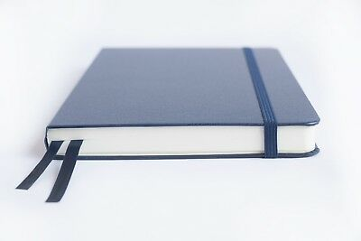 Bullet Journal - A5 Dot Grid Hard Cover Notebook Thick Paper 220 pages - blue