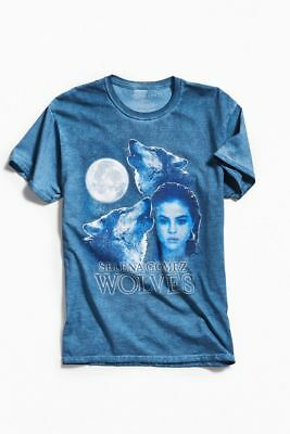 Selena Gomez Blue WOLVES T-shirt SOLD OUT