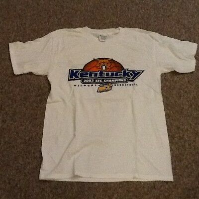 2003 Kentucky Wildcats SEC Tournament Champions T Shirt Basketball Calipari NBA